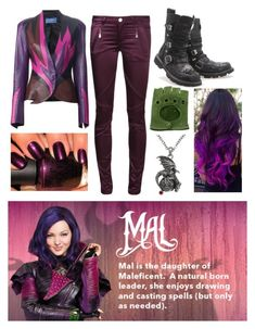 """Disney's Descendants: Mal"" by jmsmith462 ❤ liked on Polyvore"