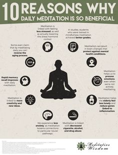 10 Reasons Why Daily Meditation is so Beneficial #Infographic #Meditation