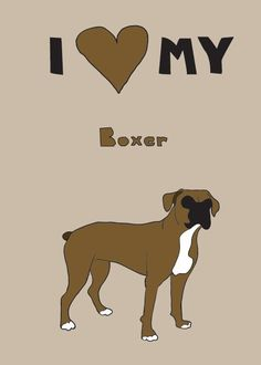 Boxer 5x7 print by linedraw on Etsy, $15.00