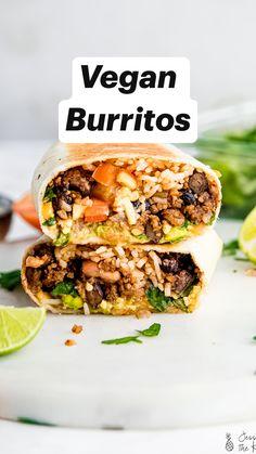 Tasty Vegetarian Recipes, Vegan Dinner Recipes, Cooking Recipes, Healthy Recipes, Healthy Eats, Healthy Lunches, Healthy Good Food, Healthy Vegan Recipes, Vegan Sandwich Recipes