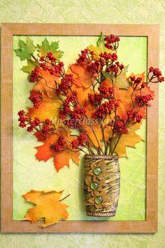картина-панно с кленовыми листьями из холодного фарфора Autumn Crafts, Fall Crafts For Kids, Nature Crafts, Art For Kids, Leaf Projects, Fall Projects, Cork Crafts, Diy And Crafts, Diy Wedding Backdrop