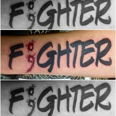 fishink_tattooFighter with bloody semicolon #fighter #lettering #blood #bloody…