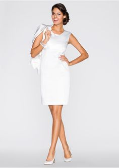 Costum blazer + rochie, 2 piese/set • 369.9 lei • bonprix Modern Vintage Fashion, Flirt, Vintage Mode, Blazer Dress, Overall, White Dress, Dresses For Work, Hairstyle, Beauty
