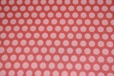 Grid Dot Coral fabric from the Nested Owls Coral by OlieandEvie, $10.00