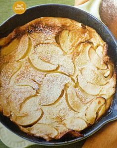 Apple Oven Cake from Sunset Magazine January 2013