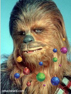 Finally, and app for your beard Chewbacca!  http://xmasbeard.com  #XmasBeard #Beard #MerryChristmas #Funny