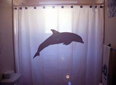 Amazing Dolphin Shower Curtain Bathroom Decor Kids Bath Sea Ocean Life Bottlenose  Unique Custom Color Size