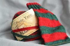 """Day 16 of #25DaysofEnabling: """"Santa Claus, IN"""" from Simply Socks Yarn Co, on their Poste Yarn base. Need some? They offer free shipping on all orders over $85!"""
