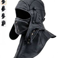 sterkowski-genuine-leather-mens-aviator-trapper-cap-with-mask-and-collar