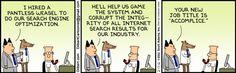 SEO comic - Dilbert