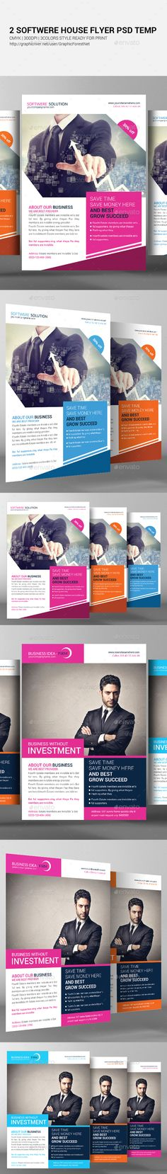 Solution And Software Flyer Template Flyer Templates Flyer