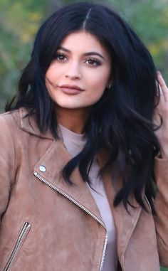 Sweet & Simple from Kylie Jenner's Hair Evolution  Her hair's never looked so healthy and voluminous as it does in this glam shot.