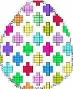Free Bargello needlepoint Easter Egg project. Contact me to receive. Image & project copyright Napa Needlepoint.