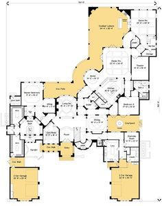 Spectacular Master Suite - 83395CL   1st Floor Master Suite, Bonus Room, Butler Walk-in Pantry, CAD Available, Den-Office-Library-Study, Florida, Loft, Luxury, MBR Sitting Area, Media-Game-Home Theater, Mediterranean, PDF, Southwest   Architectural Designs
