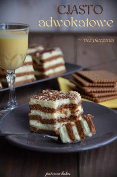 Ciasto adwokatowe bez pieczenia Polish Desserts, Polish Recipes, Polish Food, Lemon Loaf, Sweets Cake, Cake Cookies, No Bake Cake, Cake Decorating, Nutella