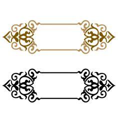Title border Vector and PNG Stencil Patterns, Pattern Art, Vintage Grunge, Frame Floral, Ramadan Images, Boarder Designs, Ramadan Lantern, Motif Art Deco, Islamic Art Pattern