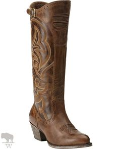 28be7983669c Ariat New West Women s Sandstorm Brown Wanderlust Tall Traditional Toe  Western Fashion Boots