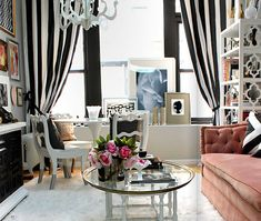 Hollywood Glam - I get the pink sofa, but it would be better suited for Salvation Army!