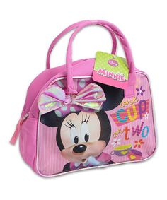 Look at this #zulilyfind! Pink & Lilac Minnie Mouse Printed Bow Satchel #zulilyfinds