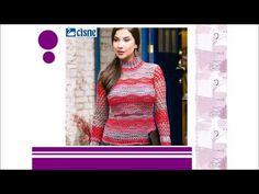 Lia's Crochet: Blusa de Crochê Matizada Vermelha – Cisne Cake