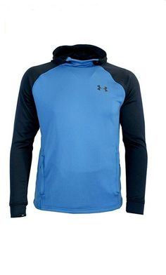 d958b5fdd Under Armour Mens ColdGear Fitted Hoodie Sweatshirt Blue 2XL 1295919-437 # UnderArmour #Hoodie