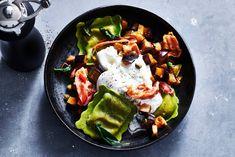 De groenten wok je en eet je met verse ravioli en buffelburrata - Recept - Allerhande