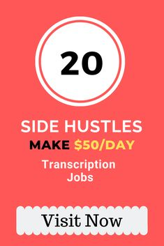 Do you want to make an extra cash at home? Get 20 side hustles to earn money online from home on the side. You need to transcript the audio into text. Get 20 real transcription jobs. Real Online Jobs, Online Jobs For Moms, Jobs For Teens, Jobs For Teachers, Legit Work From Home, Work From Home Jobs, Earn Money From Home, Earn Money Online, Transcription Jobs For Beginners