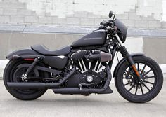 Blacked Out Harley Iron 883