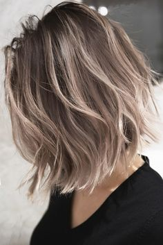 Pin by kumi yone on ヘア・ビューティー in 2019 Hair Color For Black Hair, Cool Hair Color, Brown Hair Colors, Easy Hairstyles, Pretty Hairstyles, Medium Hair Styles, Curly Hair Styles, Dye My Hair, Hair Highlights