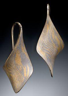 Mokume Gane Earrings by Stephen LeBlanc