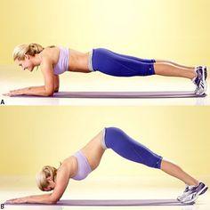 """Es momento de hacer """"planks"""".  Este es el ejercicio que no solo fortalece tus abdominales también los pectorales, cuádriceps y hombros."""