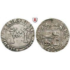 Mexiko, Carlos I. und Johanna, 2 Reales o.J. (1538-1549), ss: Carlos I. und Johanna 1516-1555. 2 Reales o.J. (1538-1549) Mexiko… #coins
