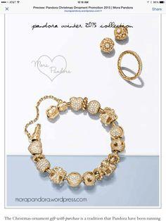 Beautiful Mora Pandora, Pandora Gold, Pandora Bracelets, Winter Collection, Jewelry Watches, 2015 Winter, Beads, Gifts, Jewellery