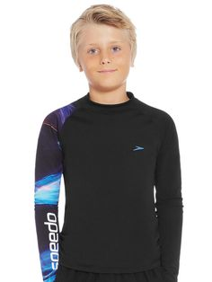 Speedo Dissect Long Sleeve Boys Sun Top 1