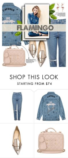 """""""Flamingo!!!!!!!!"""" by yurisnazalieth ❤ liked on Polyvore featuring Topshop, Être Cécile, Jerome C. Rousseau, Chanel and I+I"""