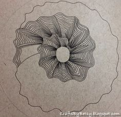 "Brilliant use of both a spiral for a mandala as well as the tangle ""Maryhill"""