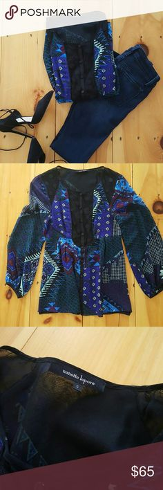 Nanette Lepore Printed Blouse Gently used condition! Beautiful, comfortable blouse. Nanette Lepore Tops Blouses