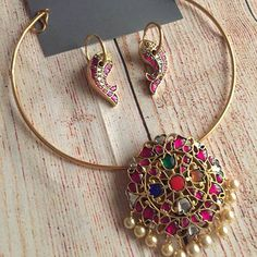 28 Fabulous Diamond Jewelry Sets That Will Leave You Awestruck South India Jewels 28 Fabulous Diamond Jewelry Sets That Will Leave You Awestruck South India Jewels Pearl Necklace Designs, Pearl Stud Earrings, Antique Necklace, Silver Earrings, Gold Jewellery Design, Jewelry Sets, Jewelry Rings, Jewelry Making, Craft Jewelry