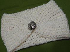 diademas tejidas a crochet anchas