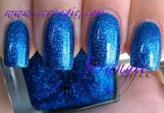 Pure Ice Strapless clear base with dense tiny blue glitter, super shiny easily build-able great rich blue color
