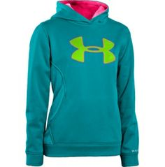 Polka dot printed hoodie from Under Armour Kids. #girls #clothing ...