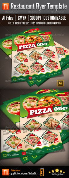 Restaurant Flyer Template - V3 - Restaurant Flyers