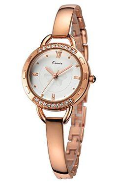 Now available Voeons Women's Fashion Rose Gold Watch Lady's Luxury Wrist Watch Elegant Bracelet Watch