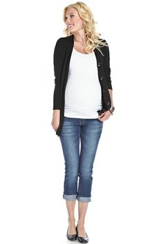 Button Down Cardigan Sweater by Lilac | Maternity Clothes  Available at Due Maternity www.duematernity.com