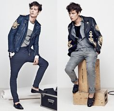 Balmain 2014 Spring Summer Mens Presentation - Masculine Printemps Été 2014 Homme France: Designer Denim Jeans Fashion: Season Collections, Runways, Lookbooks and Linesheets