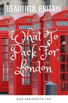 What to pack for London? What you need to pack for London in all seasons for your best trip. Plus extra tips on packing for a trip to Britain. - How To Pack For London in Spring, Summer, Autumn and Winter Packing List For Travel, Europe Travel Tips, Travel Advice, Travel Guides, Packing Lists, Packing Hacks, Packing Ideas, Travel Checklist, Travel Abroad