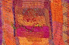 Rune Cloth (Julia Caprara). Details from a hand embroidered wall panel.