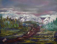 Title  Blurred Mountain  Artist  Jan Dappen  Medium  Painting - Oil On Canvas