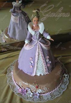 торти від пані Галини - Дитячі торти Doll Birthday Cake, Adult Birthday Cakes, Birthday Cakes For Women, Beautiful Cakes, Amazing Cakes, Bolo Barbie, Cupcake Cakes, Cupcakes, Dress Cake
