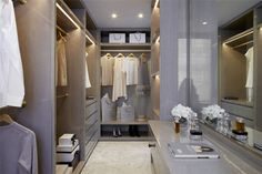 Closet Envy, walk in wardrobe with vanity area, Mayfair - 3 bedrooms Flat For Sale in Grosvenor Square, Mayfair, « Wetherell Dressing Room Design, Apartment Projects, Luxury Design, 3 Bedroom Flat, Apartment Interior Design, Interiors Dream, Room Design, Stylish Bedroom, Interior Design Images